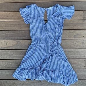 Blue and White Stripped American Eagle Romper